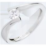 vendita on-line Solitario Nido Prezioso - Apostrofo - Oro bianco - 18 carati - Diamante - 0.31 carati