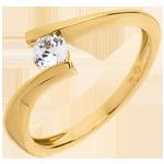 Solitario Nido Prezioso - Apostrofo - Oro giallo - 18 carati - Diamante - 0.26 carati