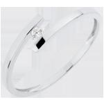 comprare on-line Solitario Nido Prezioso - Daria - Oro bianco - 18 carati - Diamante