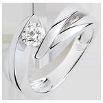 gioiello oro Solitario Nido Prezioso - Ondina - Diamante: 0.4 carati - Oro bianco 9 carati