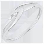 regalo donne Solitario Nido Prezioso - Unione Bianca - Oro bianco - 18 carati - Diamante