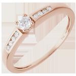 Solitario Octave oro rosa - 0.21 quilates - 9 diamantes