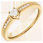 Solitario Ottava - Oro giallo - 18 carati - 9 Diamanti -0.207 carati