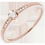 vendita on-line Solitario Ottava - Oro rosa diamante - 18 carati - 9 Diamanti - 0.13 carati