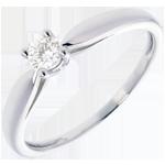 regalo donne Solitario Ramoscello - Oro bianco - 18 carati - Diamante - 0.16 carati