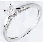 Solitario Ramoscello - Oro bianco - 18 carati - Diamante - 0.31 carati