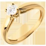 matrimonio Solitario Ramoscello - Oro giallo - 18 carati - Diamante - 0.31 carati