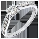 Solitärring Comtesse - Weissgold mit 15 Diamanten - 0.41 Karat