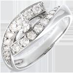 Juweliere Solitärring - Diva - Weißgold - Großes Modell - 0.15 Karat - 18 Karat