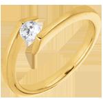 Solitärring Kostbarer Kokon - Sterntaler - Gelbgold - Diamant 0.22 Karat - 18 Karat
