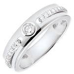 Schmuck Solitärring Versprechen - Weißgold und Diamanten - 18 Karat