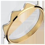 Sortija corona oro amarillo- oro blanco