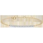 Sprankelende 9 karaat geelgouden armband - 15 Diamanten