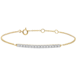 Sprankelende geel gouden armband - 15 diamanten