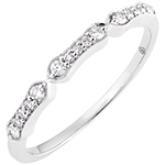 Stella - 9K white gold and diamonds