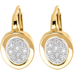 Studded alcove earrings paved white and yellow gold - 0.24 carat - 20diamonds