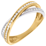 gold jewelry Tandem ring paved - 0.26 carat - 43diamonds