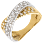 Tandem ring paved - 0.5 carat - 36diamonds