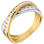 women Tandem ring paved - 0.6 carat - 23 diamonds