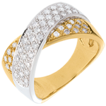gifts woman Tandem ring paved - 0.8 carat - 57diamonds