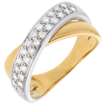 jewelry Tandem ring semi-paved - 0.26 carat - 26diamonds