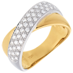 jewelry Tandem ring semi-paved - 0.4 carat - 40diamonds