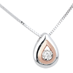 jewelry Tears of the Antilope Necklace - White and Pink Gold and Diamonds