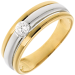 The Eclipse Ring in White Gold and Yellow Gold - 0.19 carat