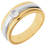 The Eclipse yellow gold-white gold - 0.27 carat