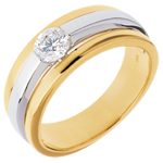 The Eclipse yellow gold-white gold - 0.42 carat
