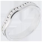The Illusion ring white golde semi paved-channel setting - 16 diamonds