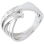 gifts woman Torsade trilogy ring - 0.26 carat