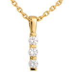 wedding Totem trilogy pendant - 0.24 carat - 3 diamonds