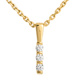 Totem trilogy pendant - 3 diamonds