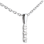 wedding Totem trilogy pendant -white gold - 3 diamonds