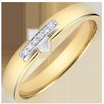 Verkauf Trauring Einzigartige Verbindung Gelbgold und Diamanten