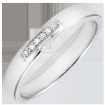 Juweliere Trauring Einzigartige Verbindung Weißgold und Diamanten