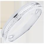 Juwelier Trauring Elégance Weißgold