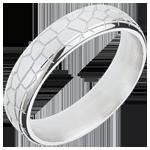 Juwelier Trauring Goldschüppchen - Weißgold
