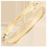 Online Kauf Trauring Heiliger Urwald - Diamantenvielfalt 2 mm - 18 Karat gebürstetes Gelbgold
