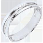 Juwelier Trauring Saturntrilogie Variation - Weißgold - 18 Karat