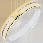 Geschenk Frau Trauring Soltice - zweier Goldlegierungen