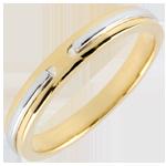 Kauf Trauring Versprechen - Gelb- und Weißgold - Kleines Modell - 18 Karat