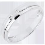 Juwelier Trauring Versprechen - Weißgold - 18 Karat