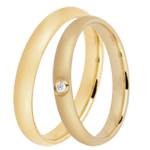 Geschenk Frau Trauringe Düne 1 Diamant