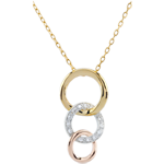 gifts women Tri-colour Gold Gala Necklace - 18 carats