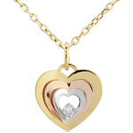 sales on line Tri-gold Boudoir Heart Pendant