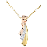 on-line buy Tri-gold Ribbon Pendant