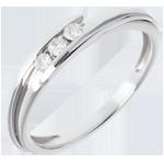 Trilogía Brillo Eterno - Bipolar - oro blanco - 3 diamantes - 0.11 quilates - 18 quilates