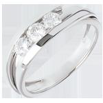 regalo uomo Trilogia Nido Prezioso - Bipolare - Oro bianco - 18 carati - 3 Diamanti - 0.53 carati